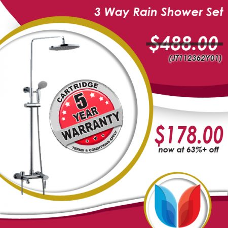 3 way rain shower
